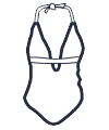 Icon - Halter Cut-Out  One Piece Swimsuit