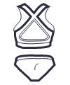 Icon - Cross Back Hipster  Bikini Set