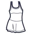 Icon - Ruffle Top Dress Swimsuit