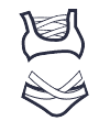 Icon - Bandaged Up Bikini Set